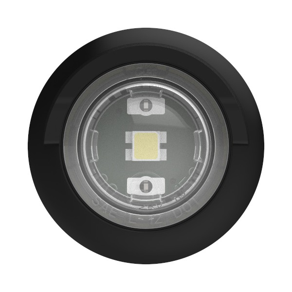 Clear LED License Light With Hooded Grommet. - 360