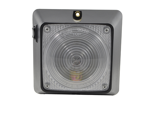 Square Dome Light With Switch, Clear - 360