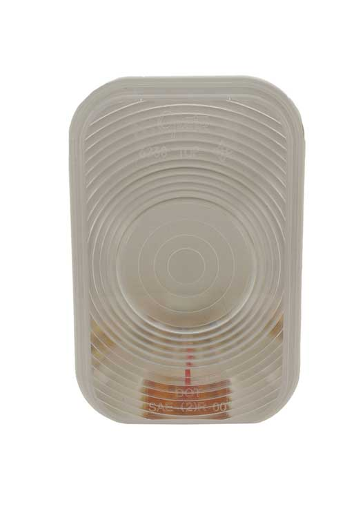 rectangular dual system backup light female clear - 360