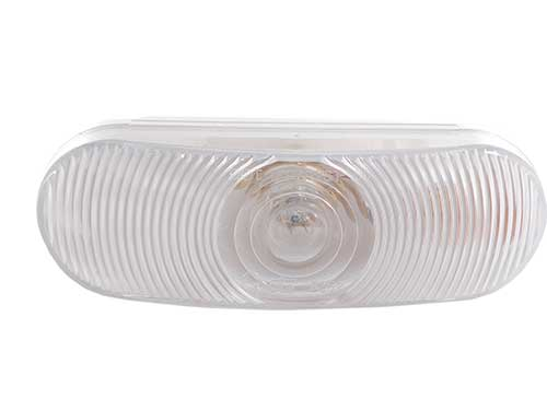 economy oval dual system backup light female clear - 360