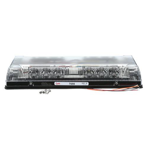 "17"" Low-Profile LED Mini Light bar, Clear Lens, Amber/White, Permanent Mount - 360"