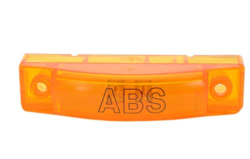 supernova thin line led clearance marker light abs yellow - 360