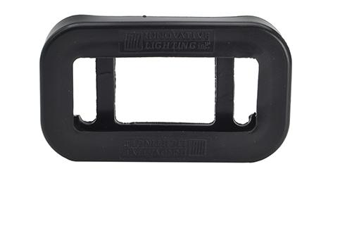 Grommet For Small Rectangular Lights, PVC, Black - 360