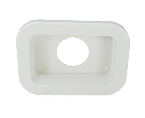 Grommet For Small Rectangular Lights, PVC, White - 360