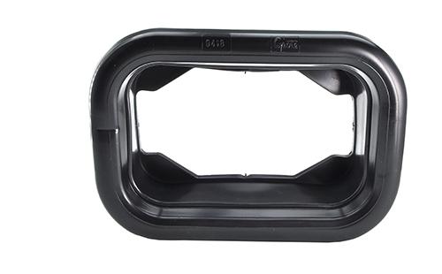 Grommet For Rectangular Lights, Mounting Grommet, Black - 360
