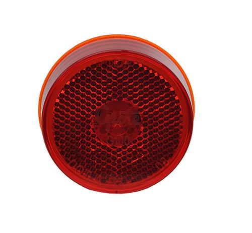 led hi count 2 half clearance marker light reflector red - 360