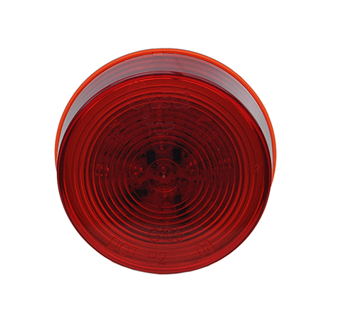 optic red hi count 2 half led clearance marker light - 360