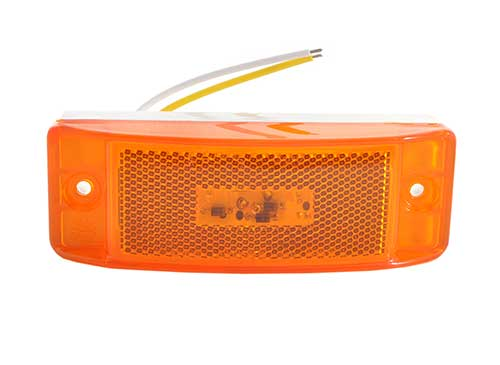 hi count trutleback ii led clearance marker light yellow - 360