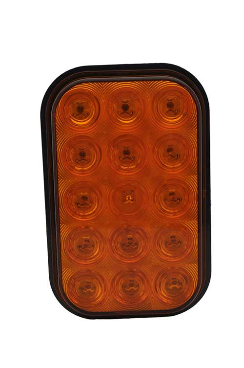 hi count rectangular led stop tail turn light amber - 360