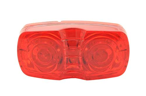 hi count square corner 13 diode led clearance marker light red - 360