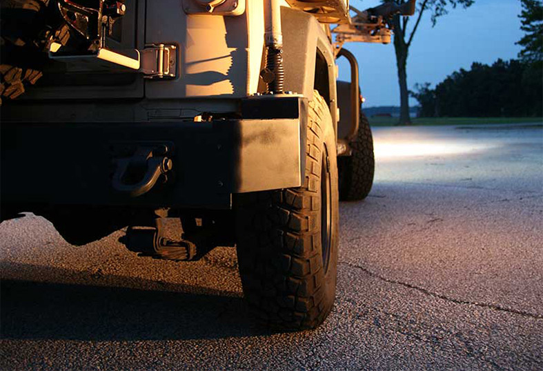 Jeep with Grote LED Lights
