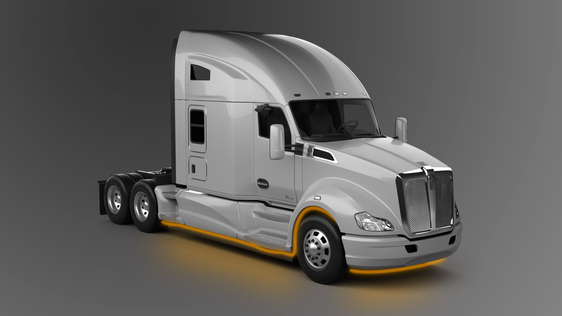 Truck LED Lighting underglow on Kenworth T680 model