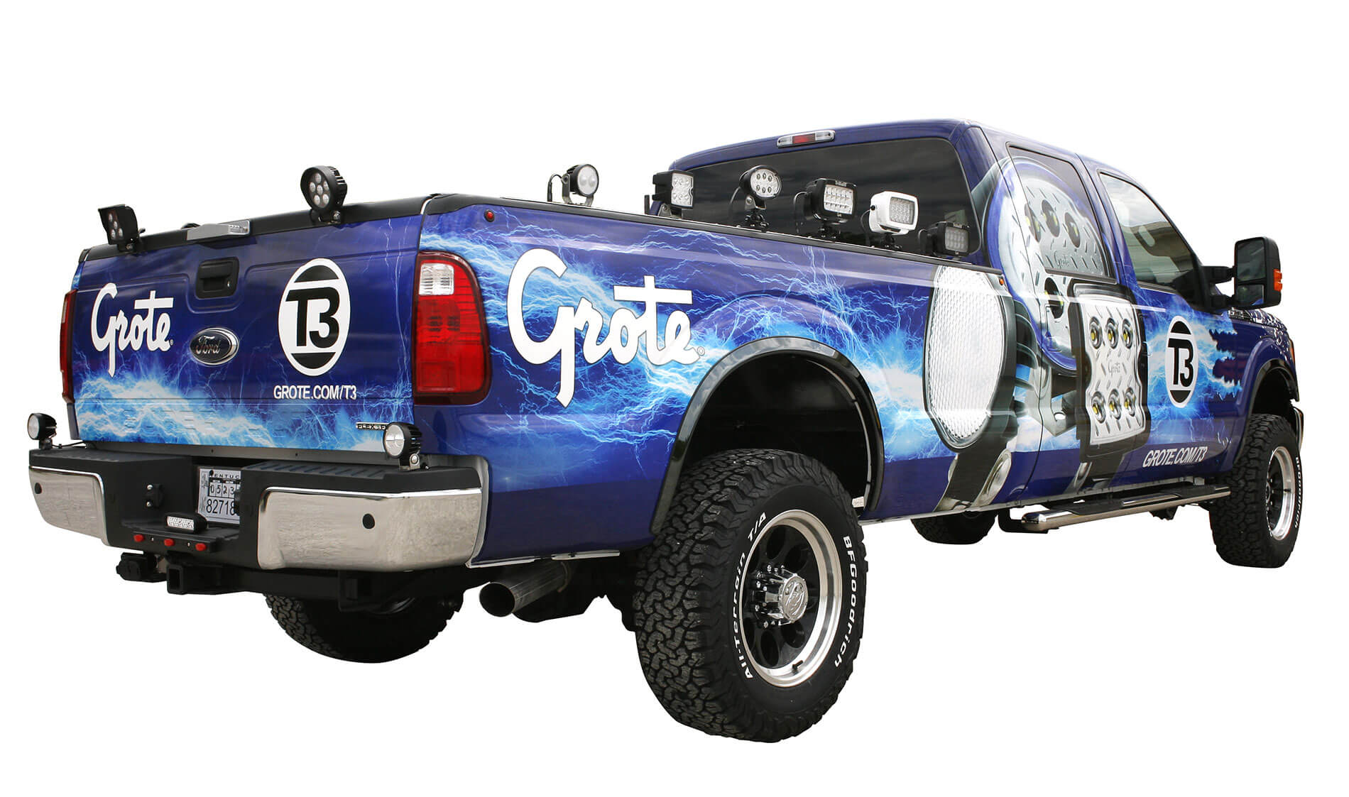 Grote's 2016 T3 truck with lights