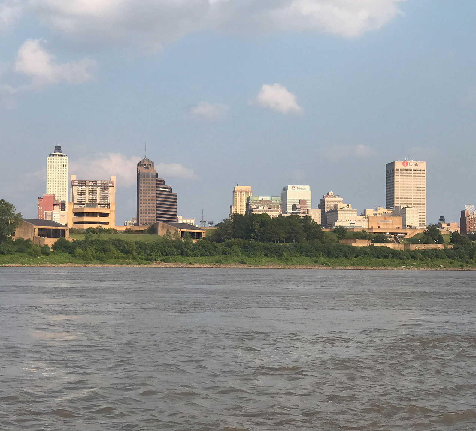 View of Memphis Tennessee from Mississippi River