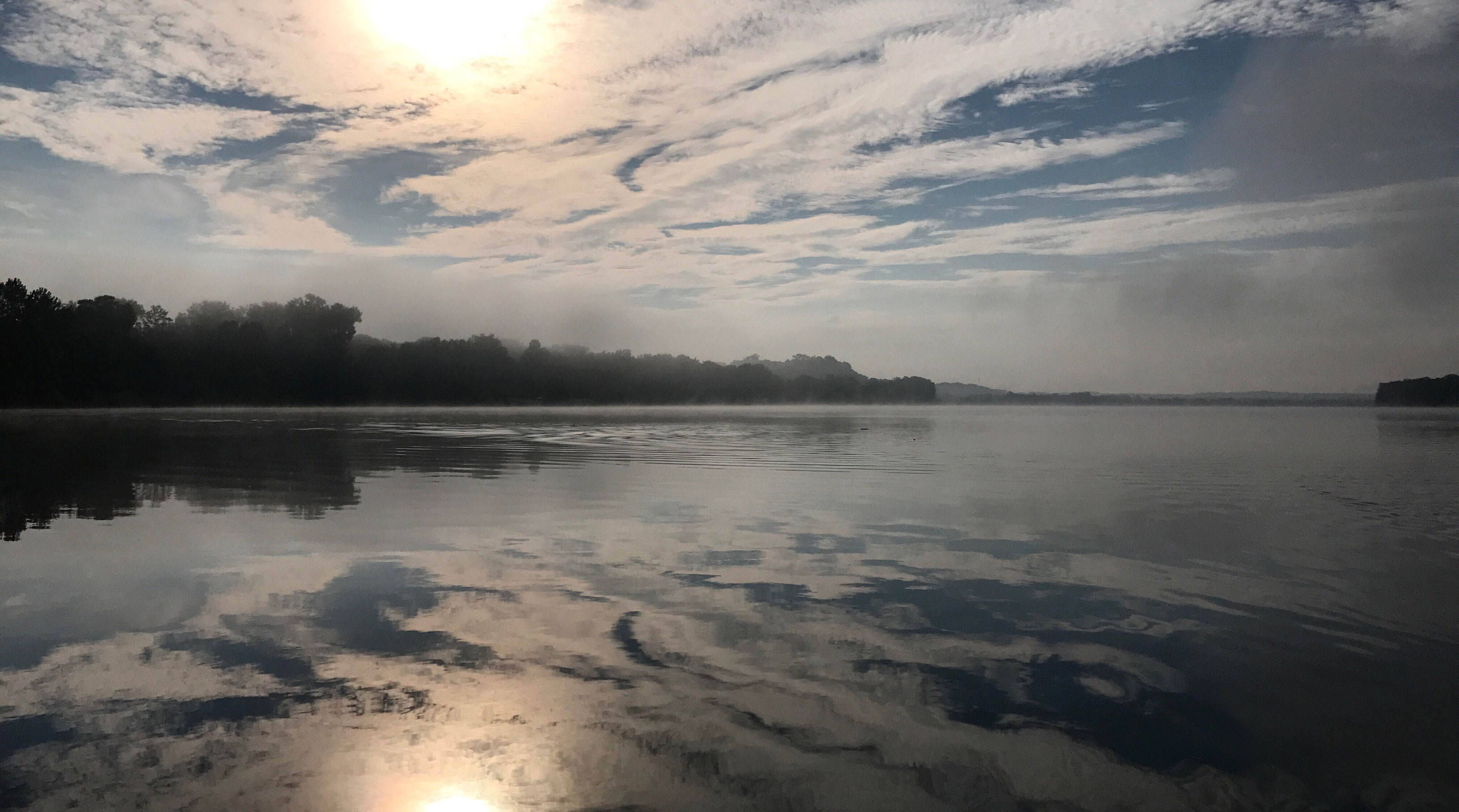 a photo of the Ohio River that Marc Phelps took the morning of day five