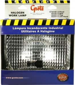 Large Rectangular Halogen Work Lights