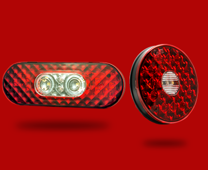 LED Stop Tail Turn Lights with Integrated Back-up
