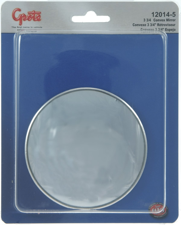 12014-5 – Stick-On Convex Mirror, 3 3/4″ Round, Retail Pack