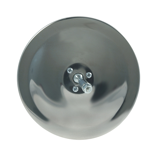12053 – 6″ Convex Center-Mount Spot Mirror, Stainless Steel, Mirror Head Only
