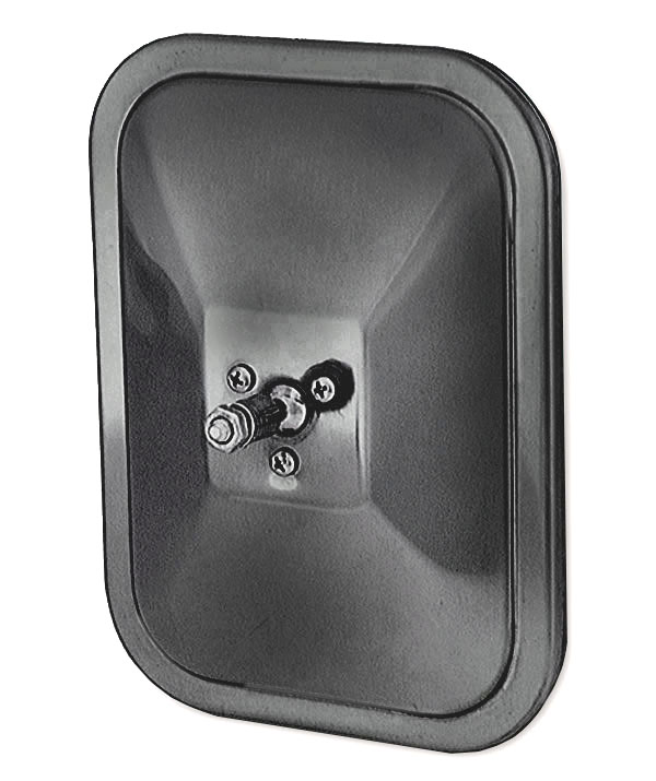 12072 – Rolled-Rim Mirror with Ball Swivel, Black