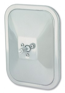 12073 – Rolled-Rim Mirror with Ball Swivel, Stainless Steel