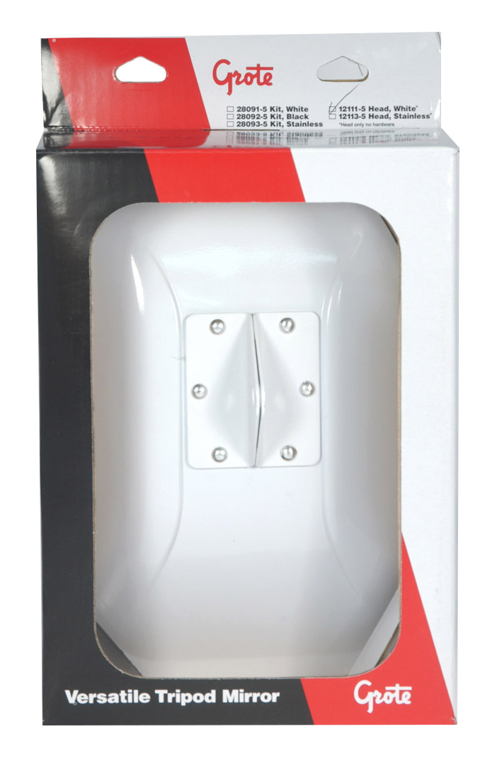 12111-5 – Side View Mirror Head, White, Retail Pack