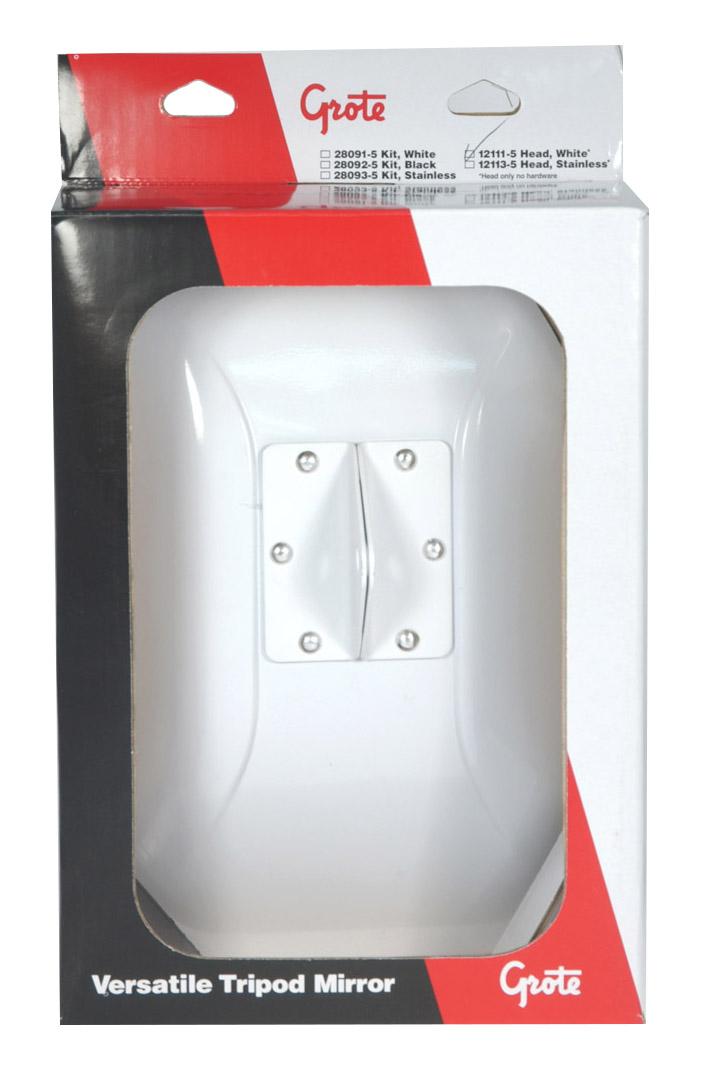 12111-5 – Below-Eye-Level Mirror, White, Retail Pack