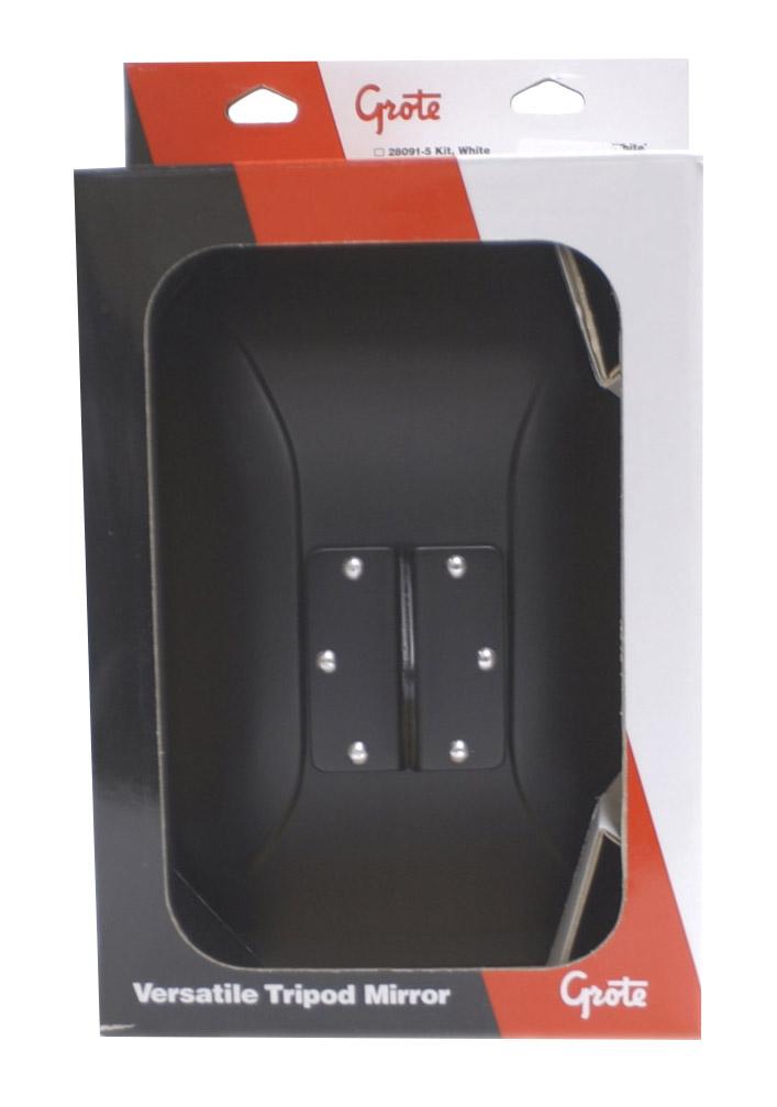 12112-5 – Below-Eye-Level Mirror, Black, Retail Pack
