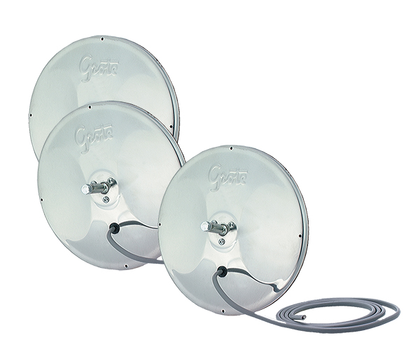 12283-3 – 8″ Round Convex Mirror with Center-Mount Ball-Stud, Stainless Steel, Bulk Pack