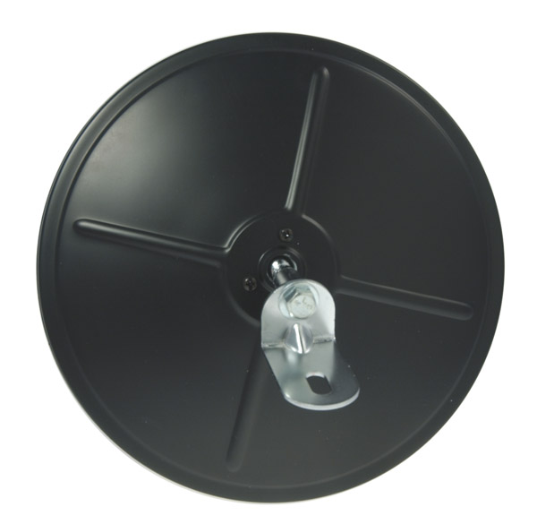 12982 – 8″ Round Convex Mirror with Center-Mount Ball-Stud, Black