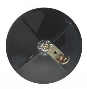 16032 – 8 1/2″ Convex Mirror With Center-Mount Ball-Stud, Black