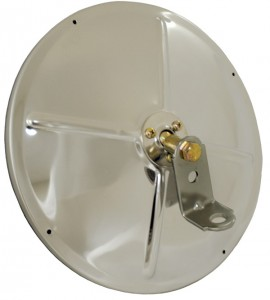 "8 1/2"" Convex Mirror with Center-Mount"