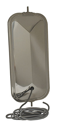 16153 – OEM-Style Peak-Back West Coast Mirror, Stainless Steel