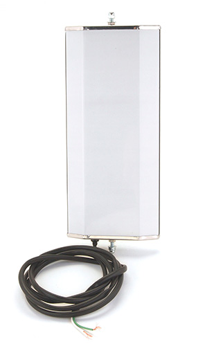 16263 – Ice & Frost-Free Heated West Coast Mirror, Stainless Steel w/ 3/8″-24 Rod