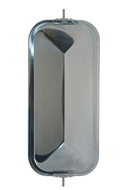 16273 – OEM-Style Peak-Back West Coast Mirror, Stainless Steel