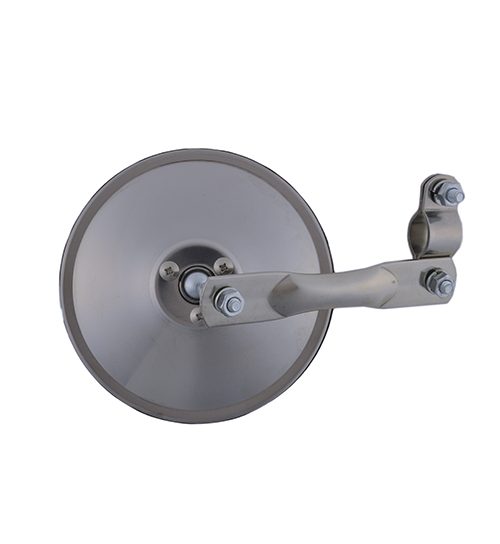 Grote Industries - 28033 – 5″ Round Clamp-On Spot Mirror, Stainless Steel, w/ Arm Assembly