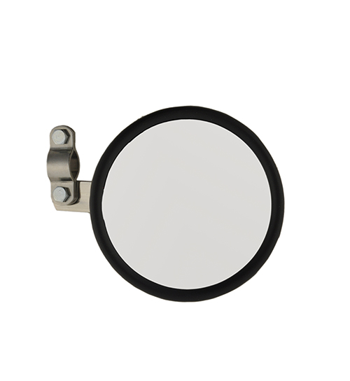 28033 – 5″ Round Clamp-On Spot Mirror, Stainless Steel, w/ Arm Assembly