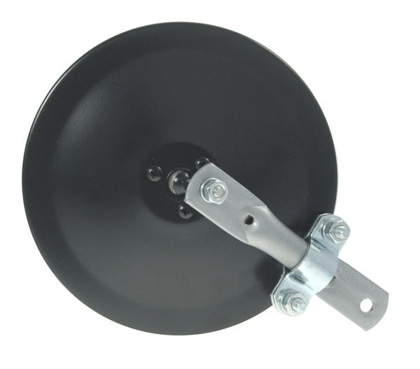 28042 – 6″ Convex Center-Mount Spot Mirror, w/ Arm Assembly, Powder Coat, Black
