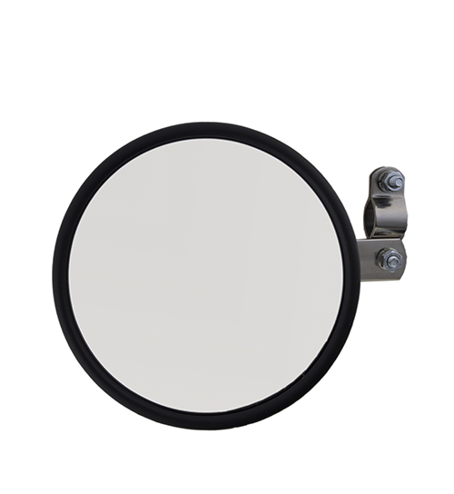 28043 – 6″ Convex Center-Mount Spot Mirror, w/ Arm Assembly, Stainless Steel