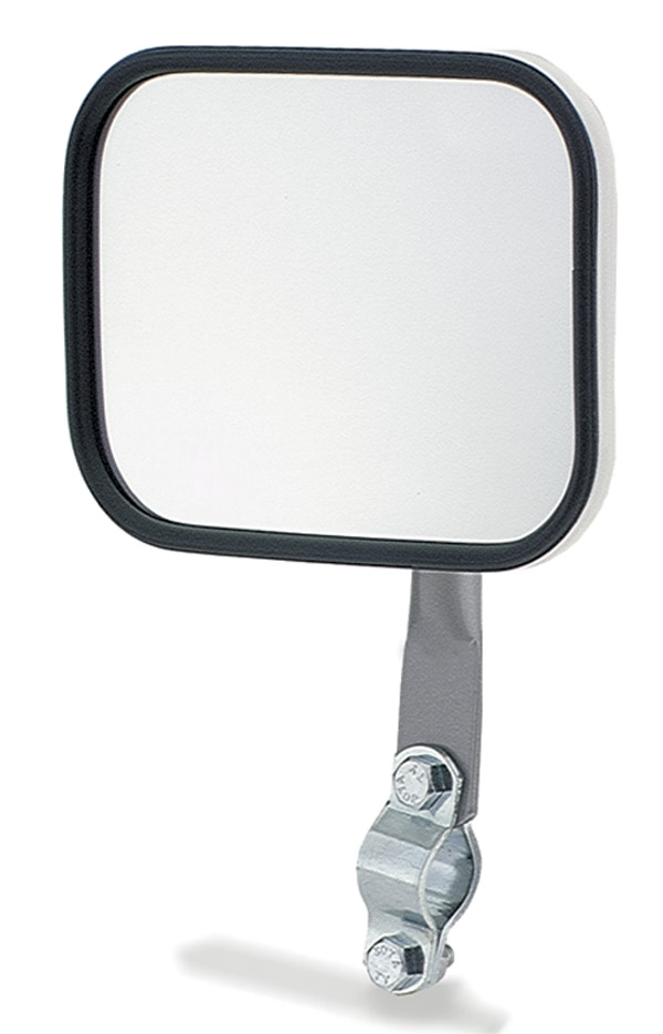 28051 – Rectangular Stack & Spot Mirror, w/ Arm Assembly, White