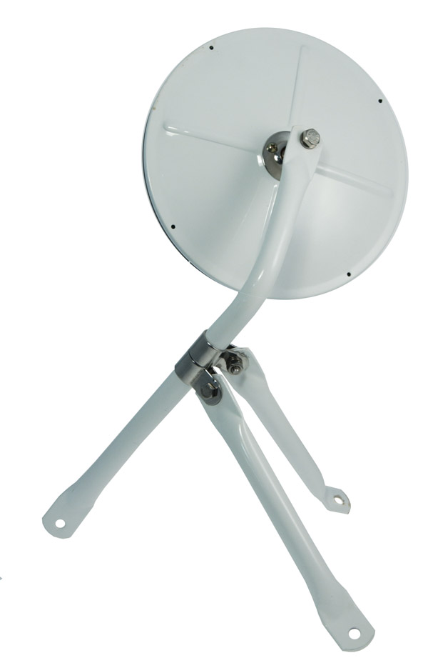 28481 – 8 1/2″ Convex Cross-Over Mirror, Mirror Assembly, White