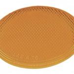 Round Stick-On Reflector, Yellow