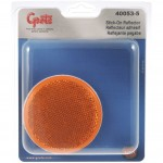 Round Stick-On Reflector, Yellow, Retail Pack