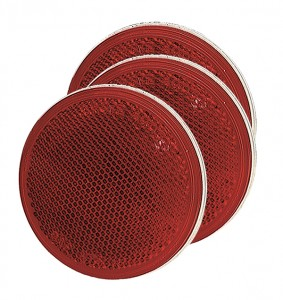 40062-3 – Sealed 3″ Round Stick-On Reflector, Red, Bulk Pack