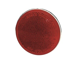 40062 – Sealed 3″ Round Stick-On Reflector, Red