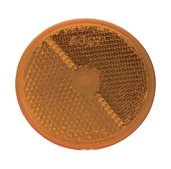 40073 – 2 1/2″ Round Stick-On Reflector, Yellow