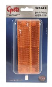 40133-5 – Mini Stick-On Screw-Mount Rectangular Reflectors, Yellow, Pair Pack