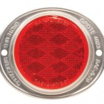 Aluminum Two-Hole Mounting Reflector, Red