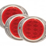 Aluminum Two-Hole Mounting Reflector, Red, Bulk Pack