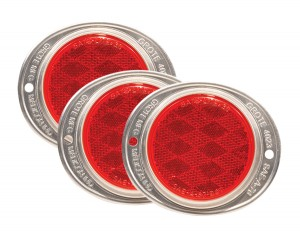 40232-3 – Aluminum Two-Hole Mounting Reflectors, Red, Bulk Pack